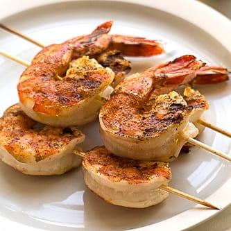 Brochettes de crevettes à la cajun