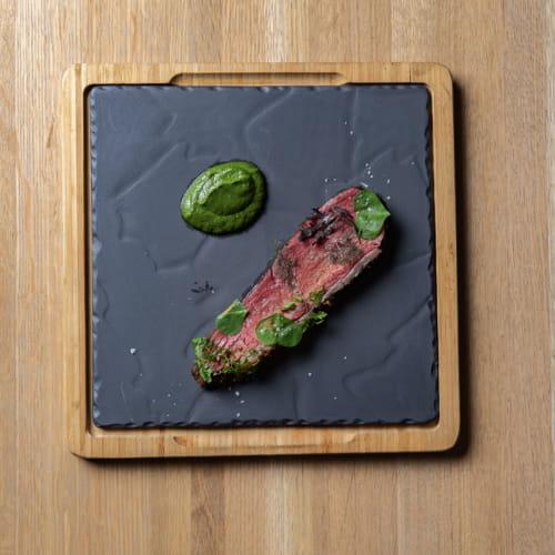 Picanha à la brésilienne cuit lentement avec sauce chimichurri