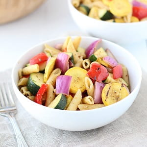 Salade de pâtes soleil couchant