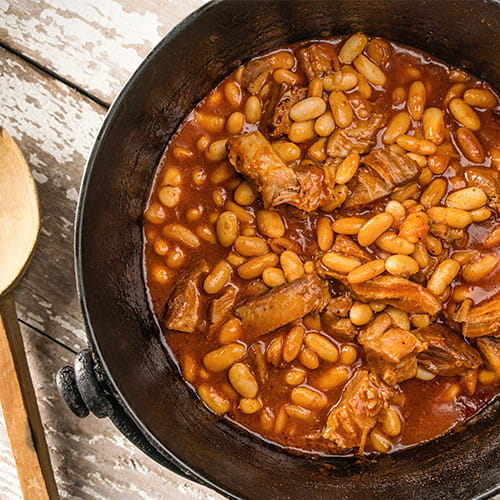Sweet and Smoky Pork and Beans - Recipe
