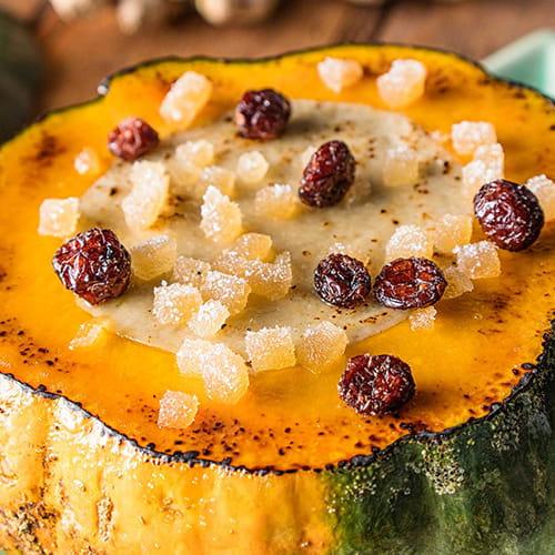 Coconut Custard Baked in a Pumpkin