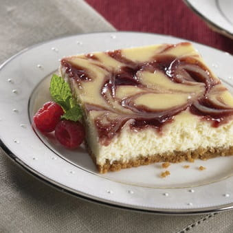 Vanilla Raspberry Cheesecake