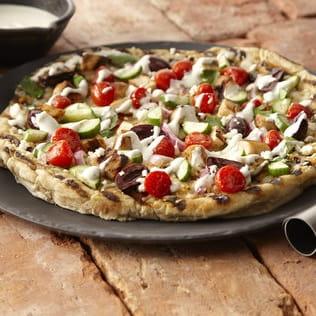 Pizza aux légumes à la grecque
