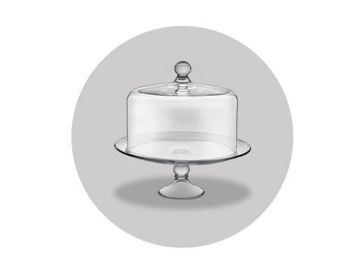 Glass cake holder