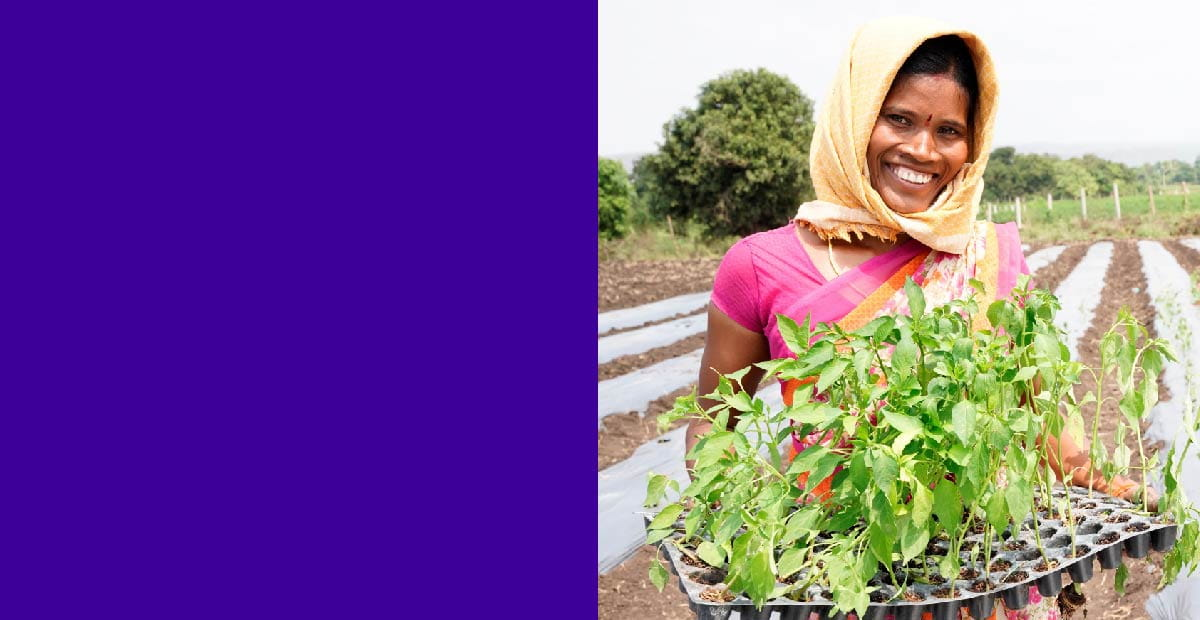 Grown for Good water conservation; photo of female farmer