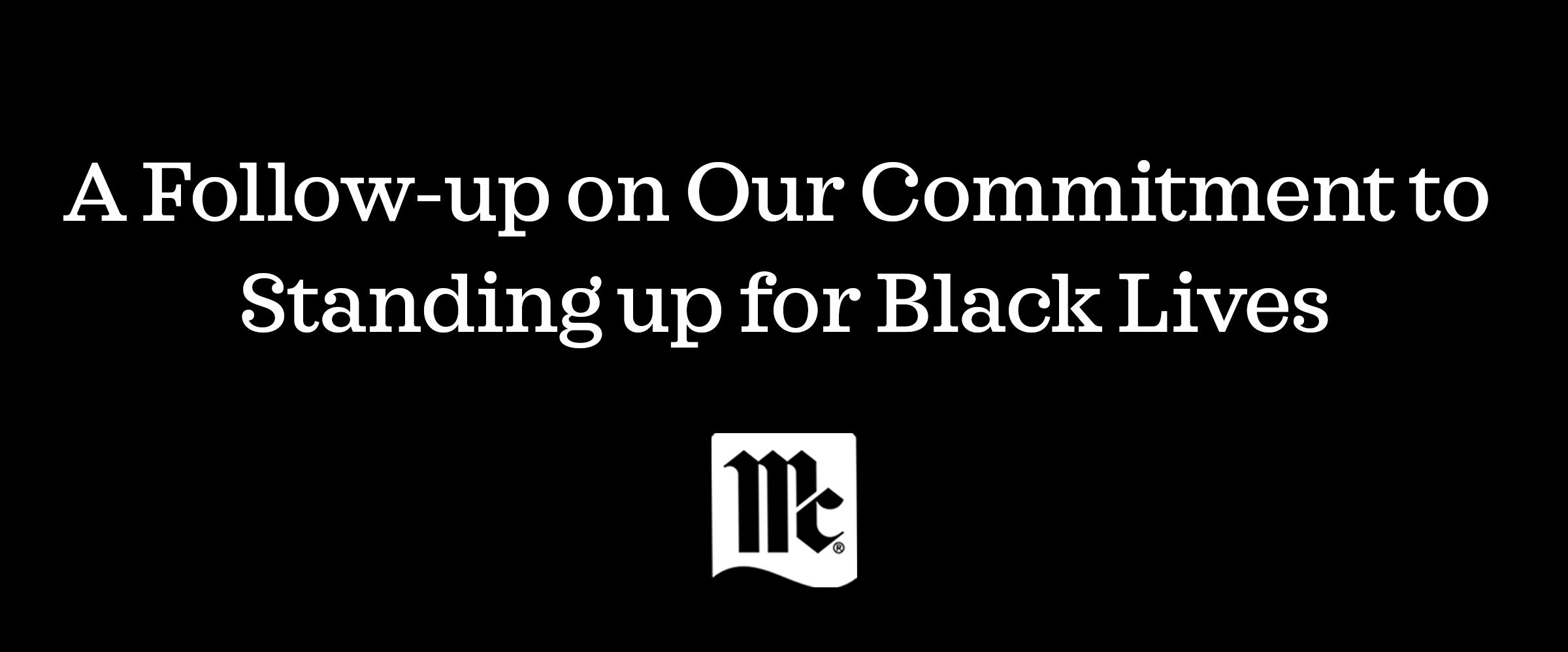 McCormick & Company Support for Black Lives; Diversity and Inclusion; D&I; corporate giving