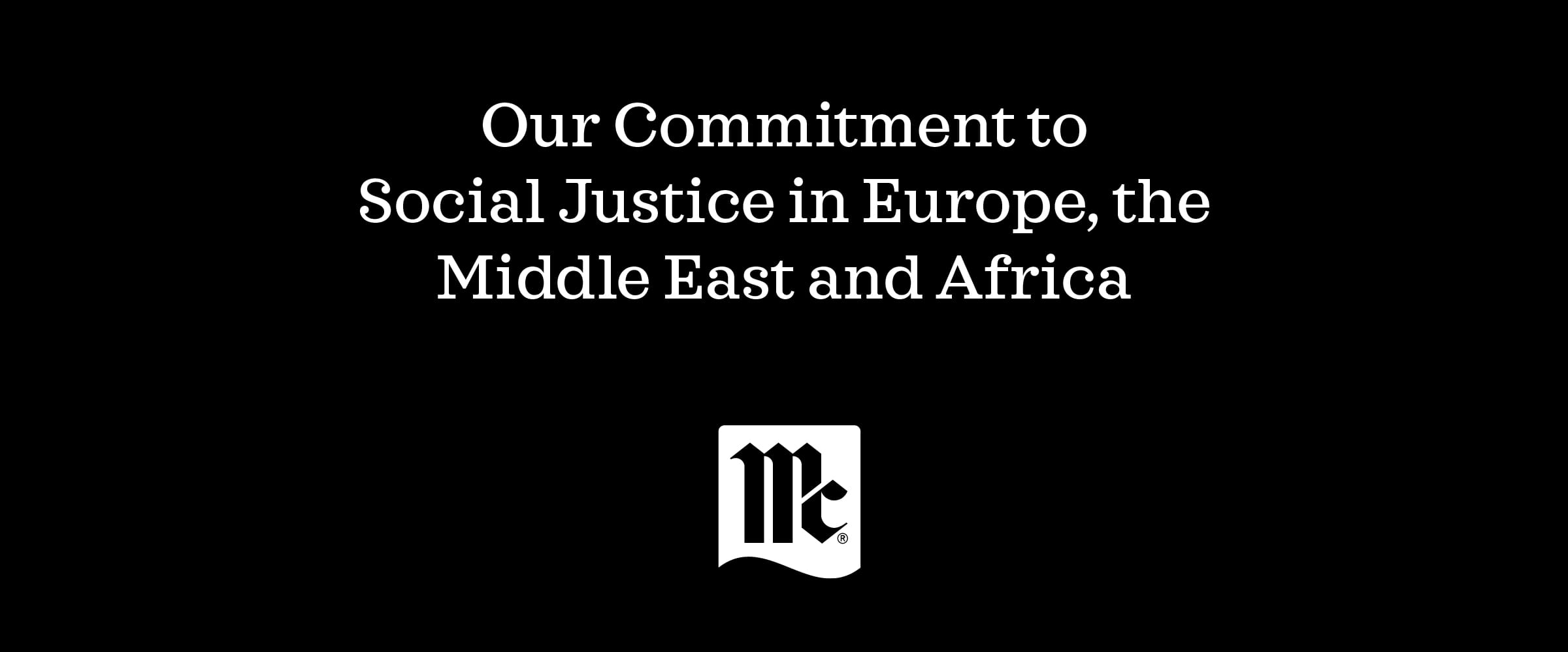 Diversity and Inclusion in Europe, Middle East, Africa, Racial Equality; McCormick & Company