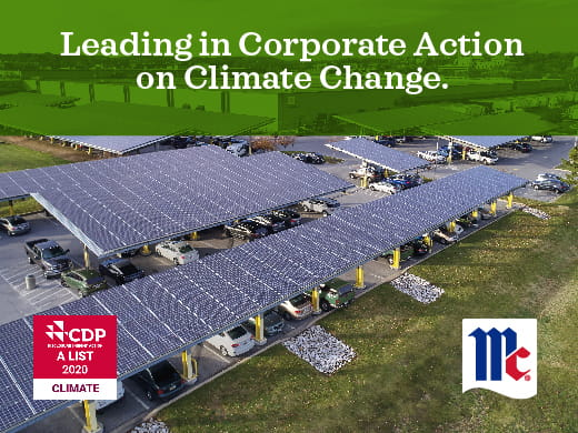 McCormick & Company environmental impact; CDP A-List; climate change; sustainability; carbon disclosure project; corporate sustainable responsibility