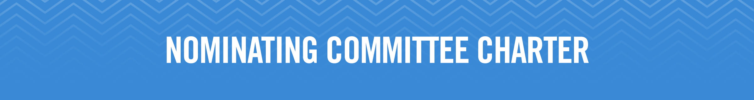 Nominating Committee Charter
