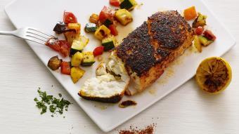 Zapiekana ryba z warzywami grillowanymi (Ratatouille la Plancha)
