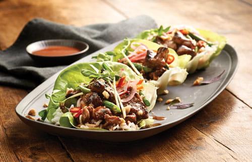 lettuce-wraps-bbq-sauce