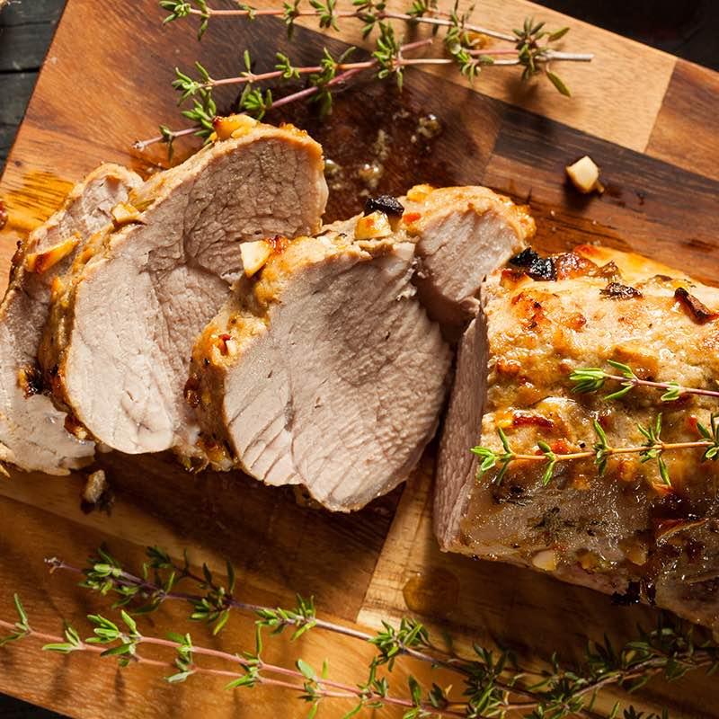 Mușchi de porc cu ciuperci sălbatice