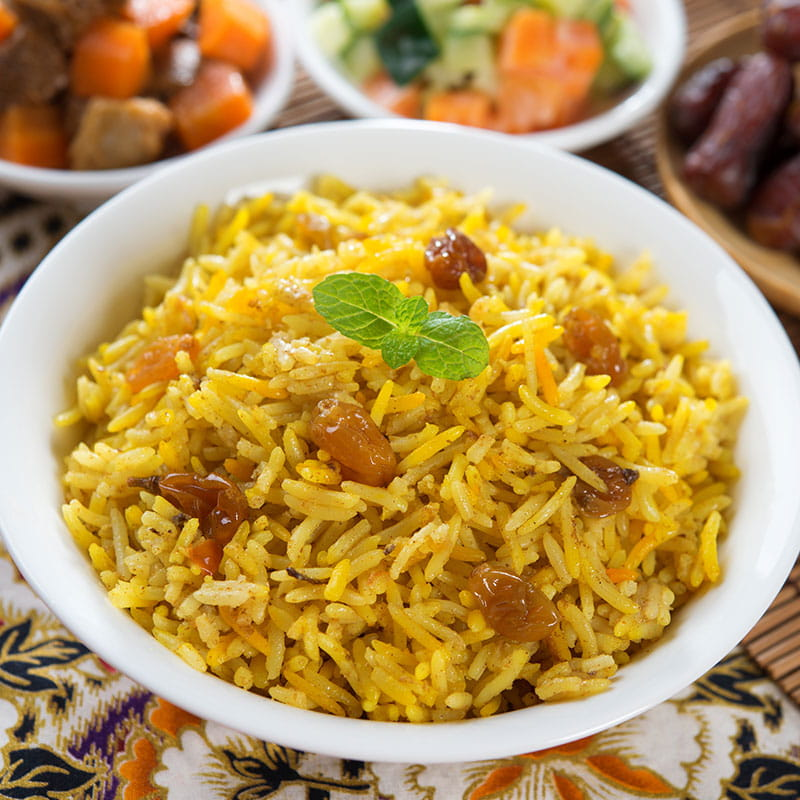Pilaf cu curry
