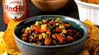 Kukurydziano fasolowa salsa