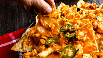 Pikantne nachos z kurczakiem