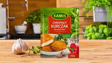 Chrupiący kurczak klasyczny panierka Kamis w torebce