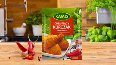 Chrupiący kurczak pikantny panierka Kamis w torebce