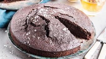 Ciasto czekoladowe z bazylią