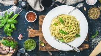 Pesto z makaronem