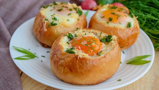 Pieczone jajka - przepis Kamis