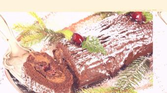 Rolada czekoladowa Yule Log
