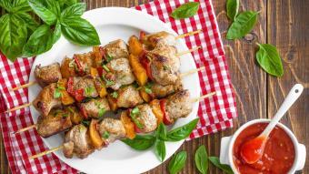 Souvlaki - szaszłyki mięsne