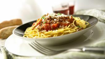 Spaghetti bolognese z tymiankiem