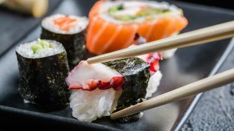 Sushi z ośmiornicą