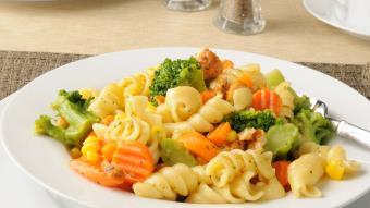 Świderki  z warzywami