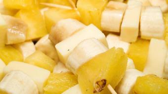 Szaszłyki z bananem