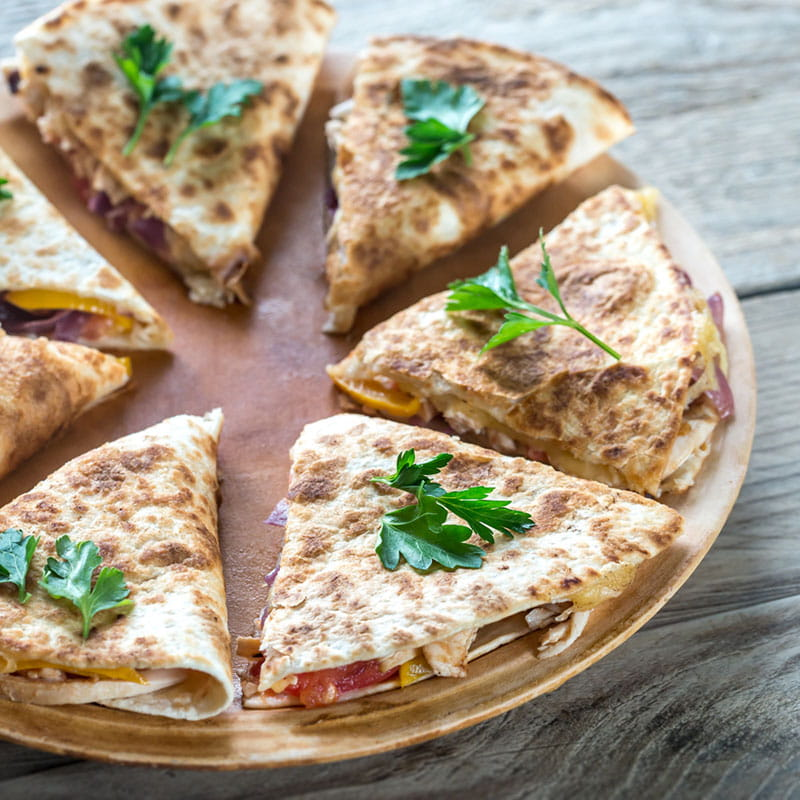 Quesadillas z chorizo