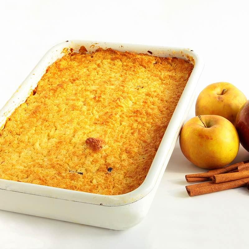 Zapiekany ryż z jabłkami i cynamonem