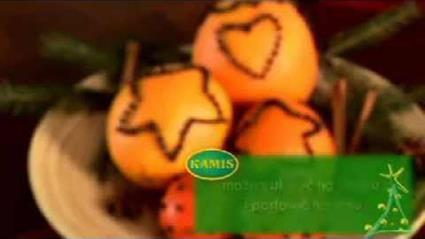 Dekoracja świąteczna - pomarańcza z goździkami
