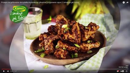 Przepis na grillowane skrzydełka kurczaka w przyprawie cajun