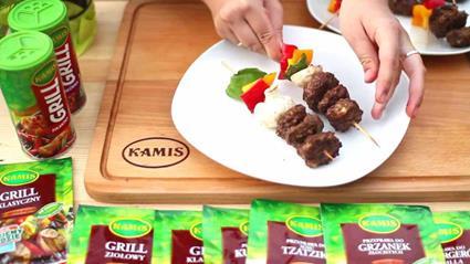 Szaszłyki warzywne z mięsem
