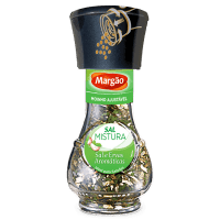 Moinho de sal e ervas aromáticas