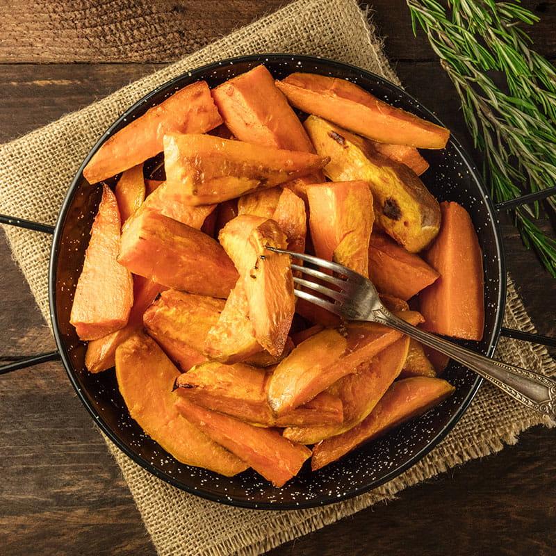 Batatas Doces Caramelizadas no Forno