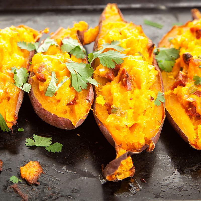 Batatas Doces Recheadas