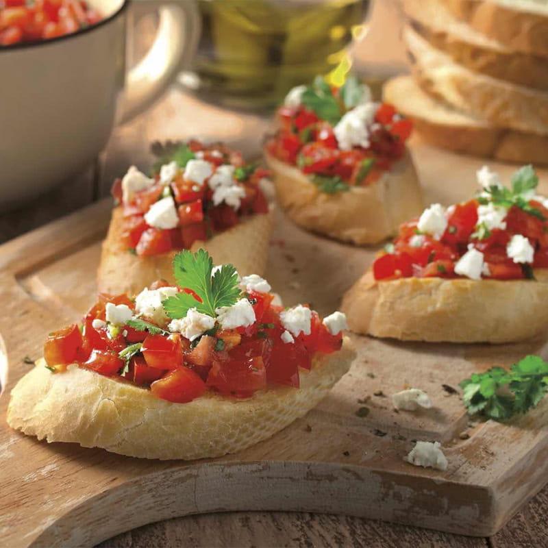 Bruschetta de Tomate e Feta