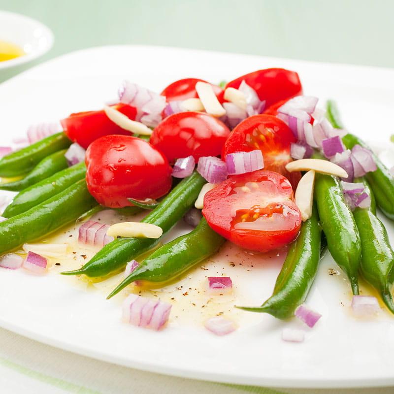Feijao Verde e Tomate com Especiarias