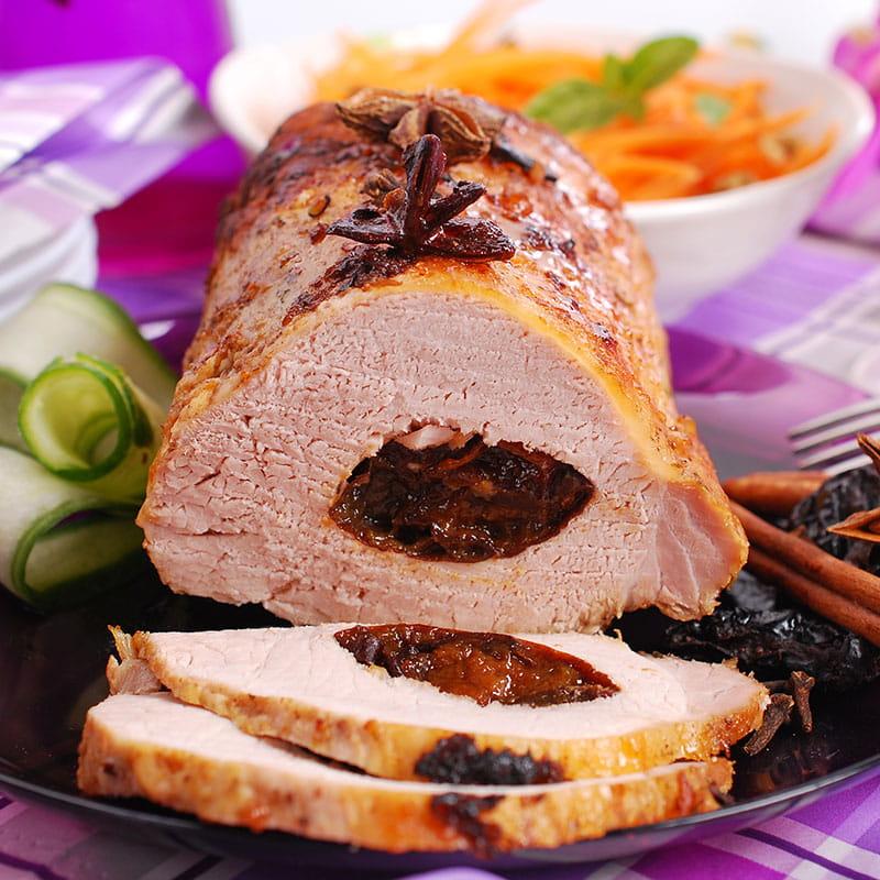 Lombinho de Porco Grelhado com Ameixas e Canela