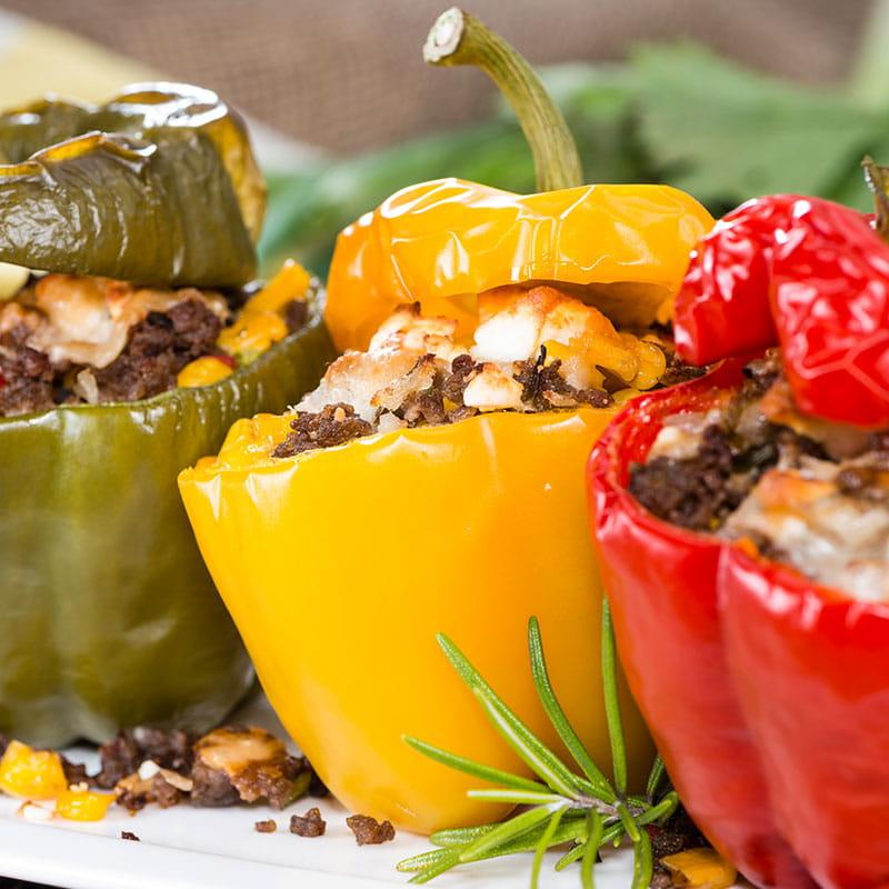 Pimentos Recheados a Marroquina