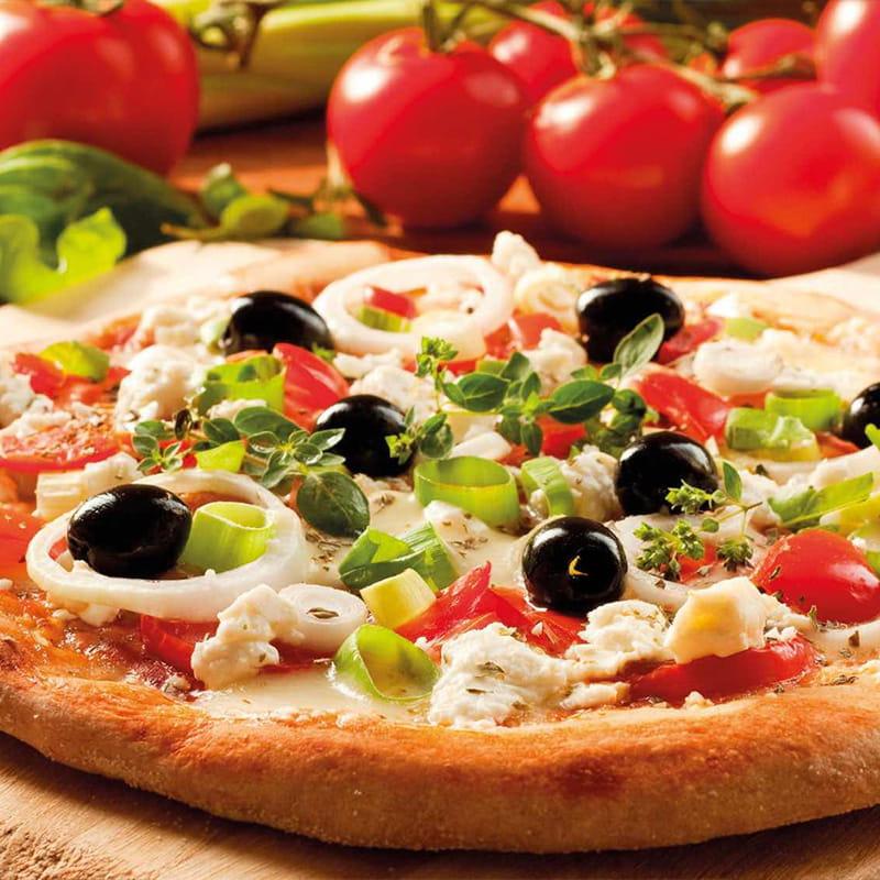 Piza com Tomate-cereja e Mozzarella