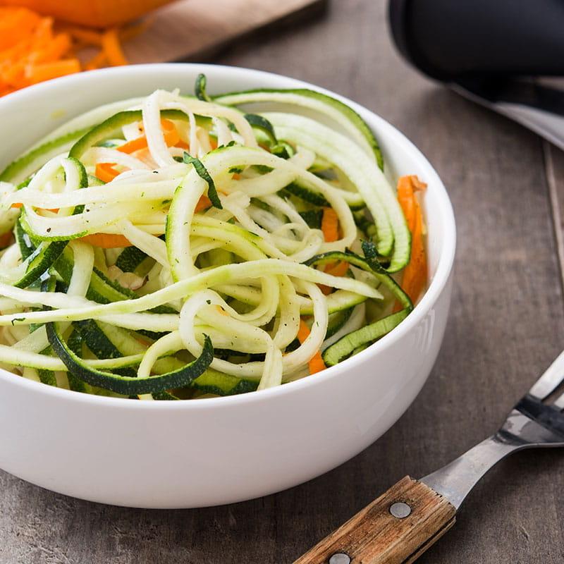 Salada de Cenouras e Curgetes com sabor Marroquino
