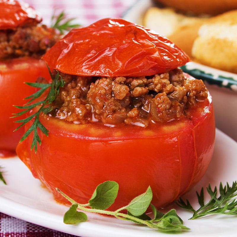 Tomates Recheados à Bolonhesa