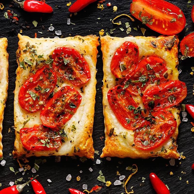Tarte de Tomate e Manjericão