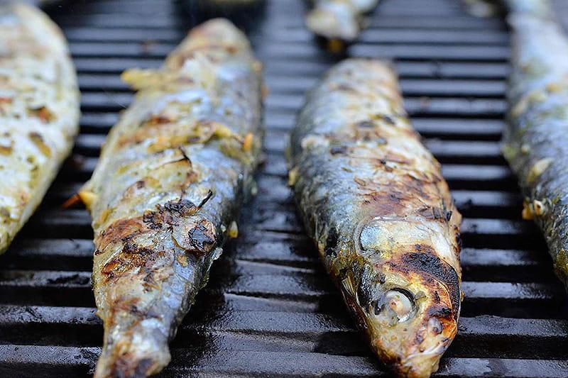 Grillierte Sardinen mit Rosmarin und Chili