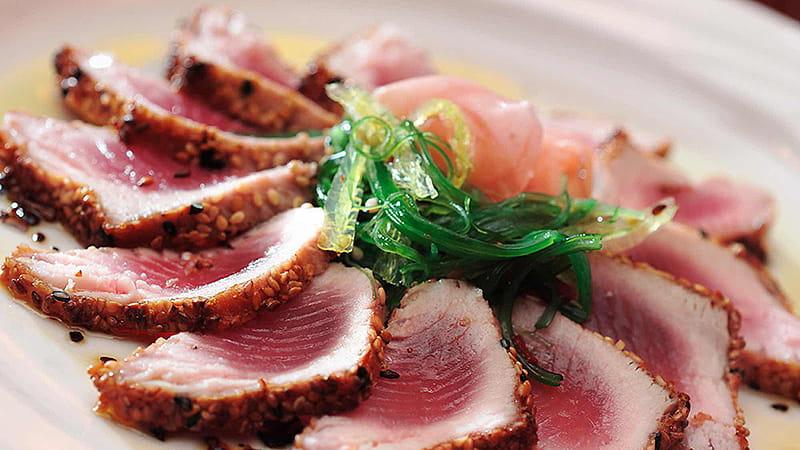 Thunfisch mit Gemüsevinaigrette
