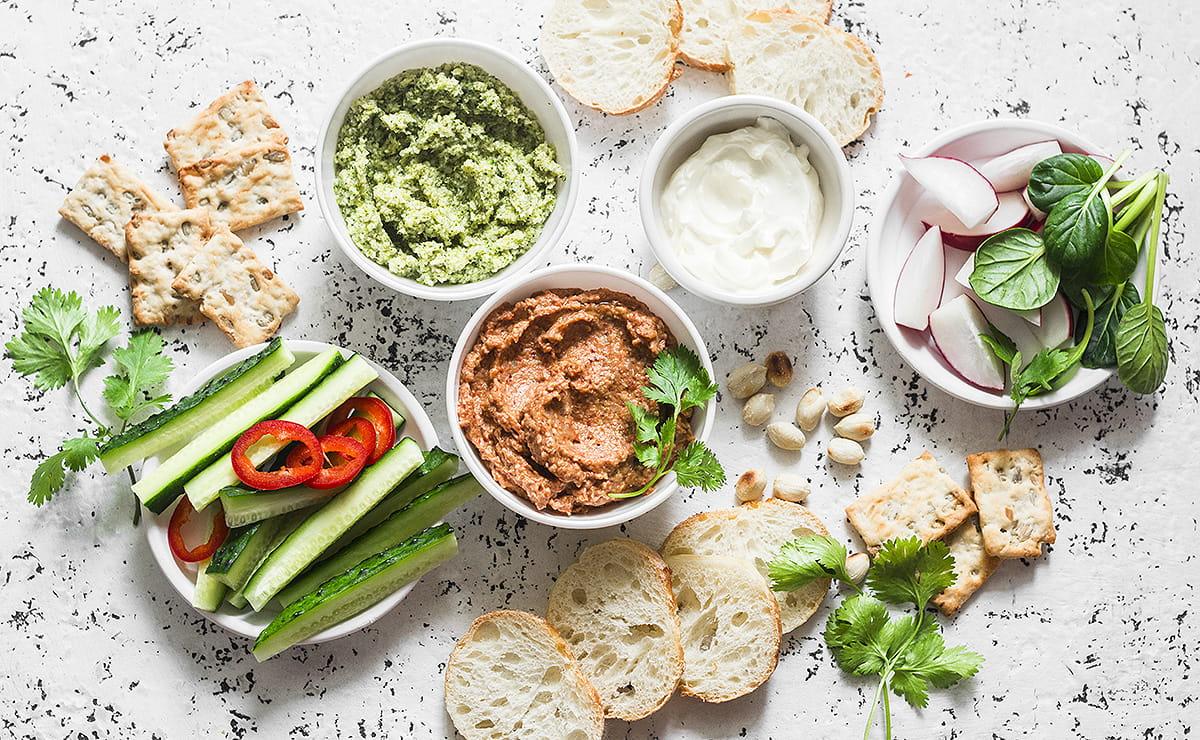 Picknick-Ideen und Rezepte - Dips, Salate und Co.