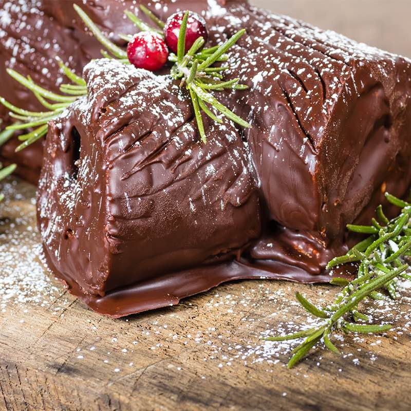 Schokoladen-Weihnachtsroulade